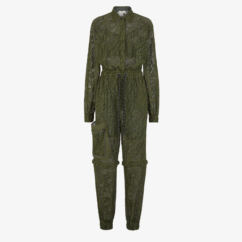 FENDI JUMPSUIT - Green lace jumpsuit - view 1 detail