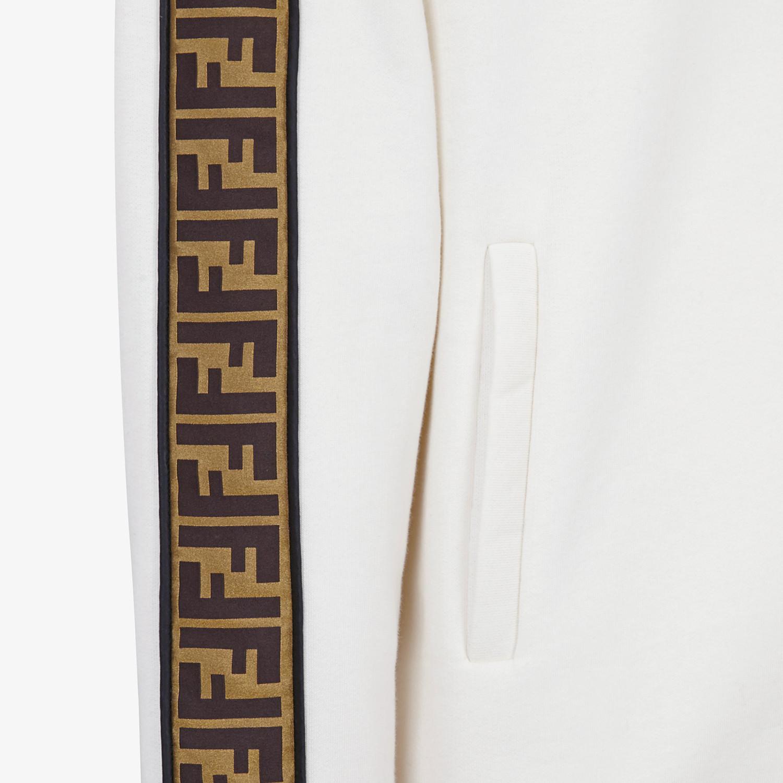 FENDI SWEATSHIRT - White cotton jersey sweatshirt - view 3 detail