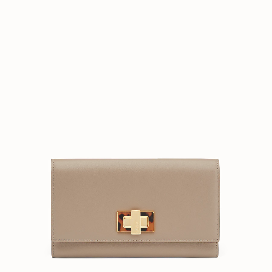 FENDI WALLET - in dove grey leather and plexiglass - view 1 detail