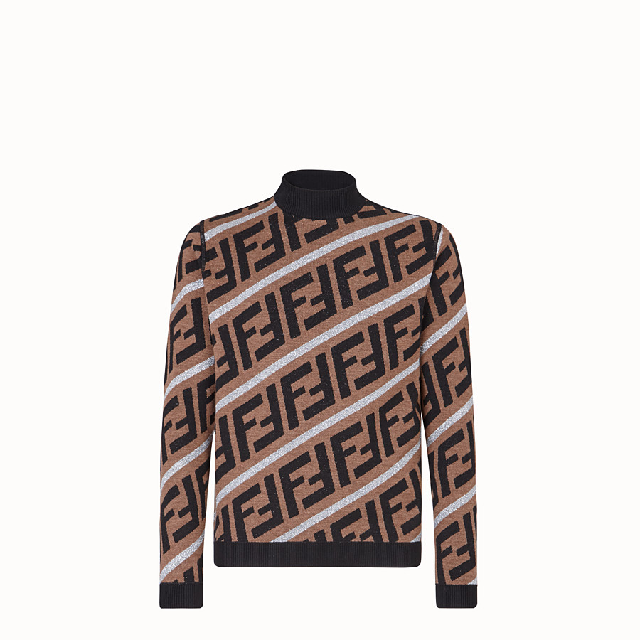 FENDI PULLOVER - Fendi Prints On woollen jumper - view 1 detail