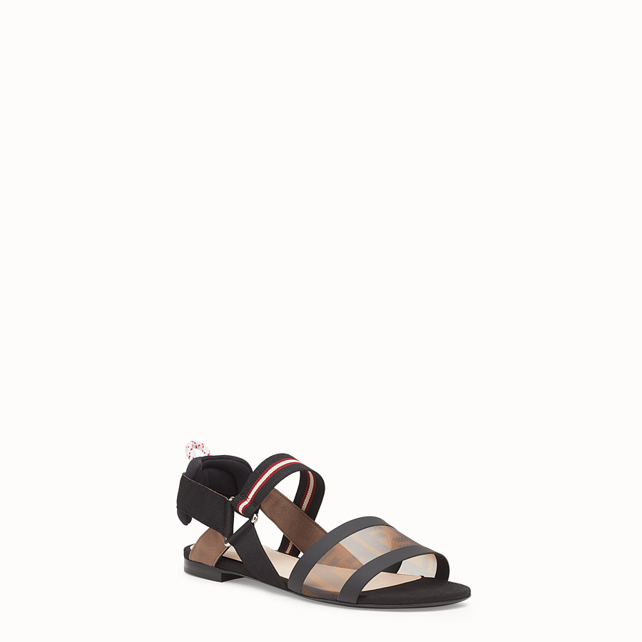 FENDI SANDALS - Multicolour technical mesh flats - view 2 detail