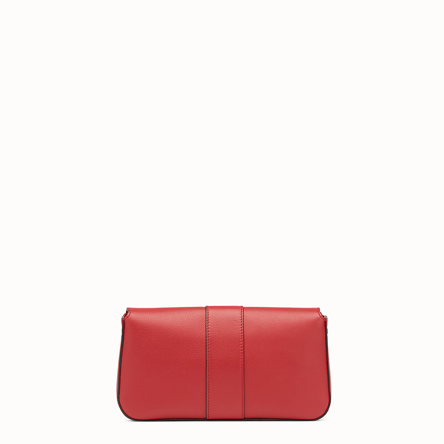 FENDI BAGUETTE - Red leather shoulder bag - view 3 detail