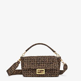 FENDI BAGUETTE - Tasche aus Stoff in Interlace Jacquard - view 1 thumbnail