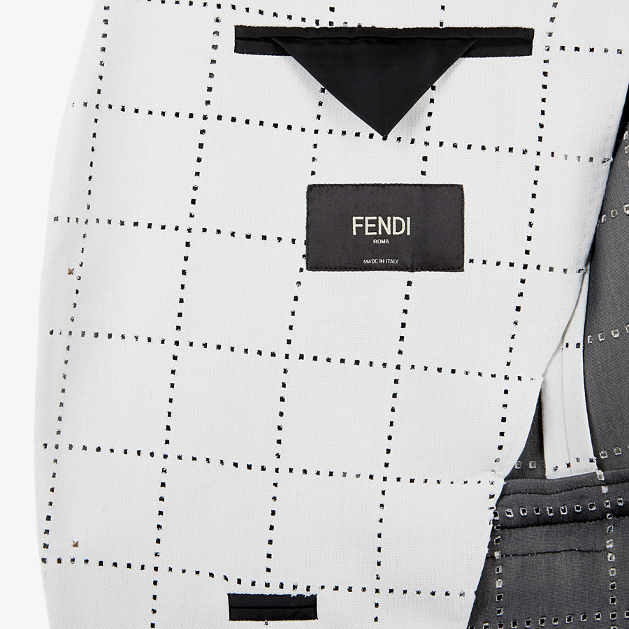 FENDI JACKET - White wool blazer - view 5 detail
