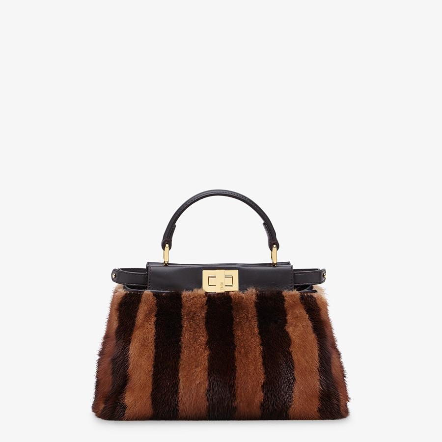 FENDI PEEKABOO ICONIC MINI - Black mink bag - view 1 detail