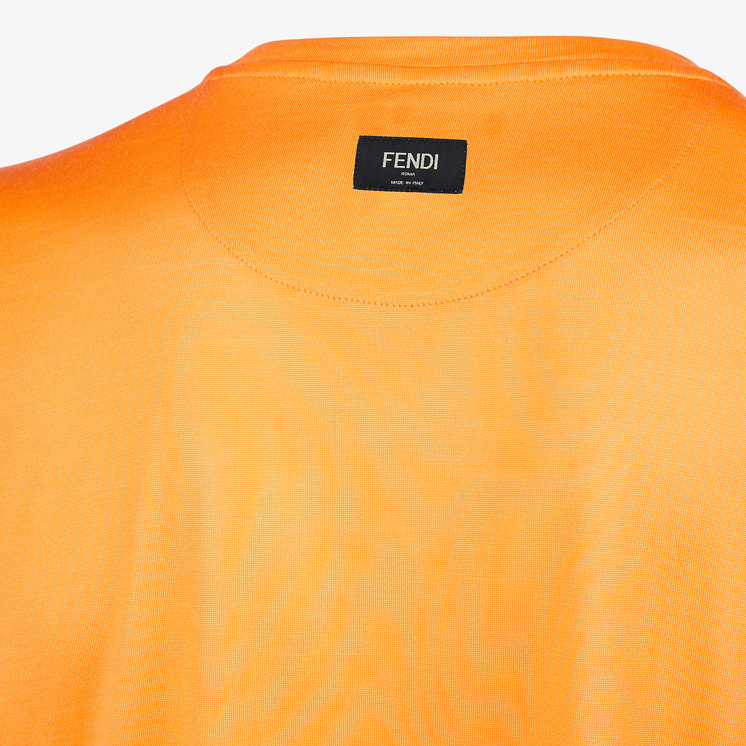 FENDI T-SHIRT - Orange silk T-shirt - view 3 detail