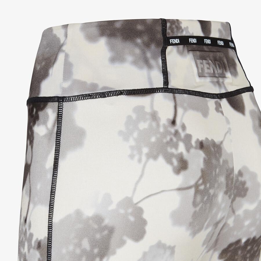 FENDI LEGGINGS - Gray tech fabric leggings - view 3 detail