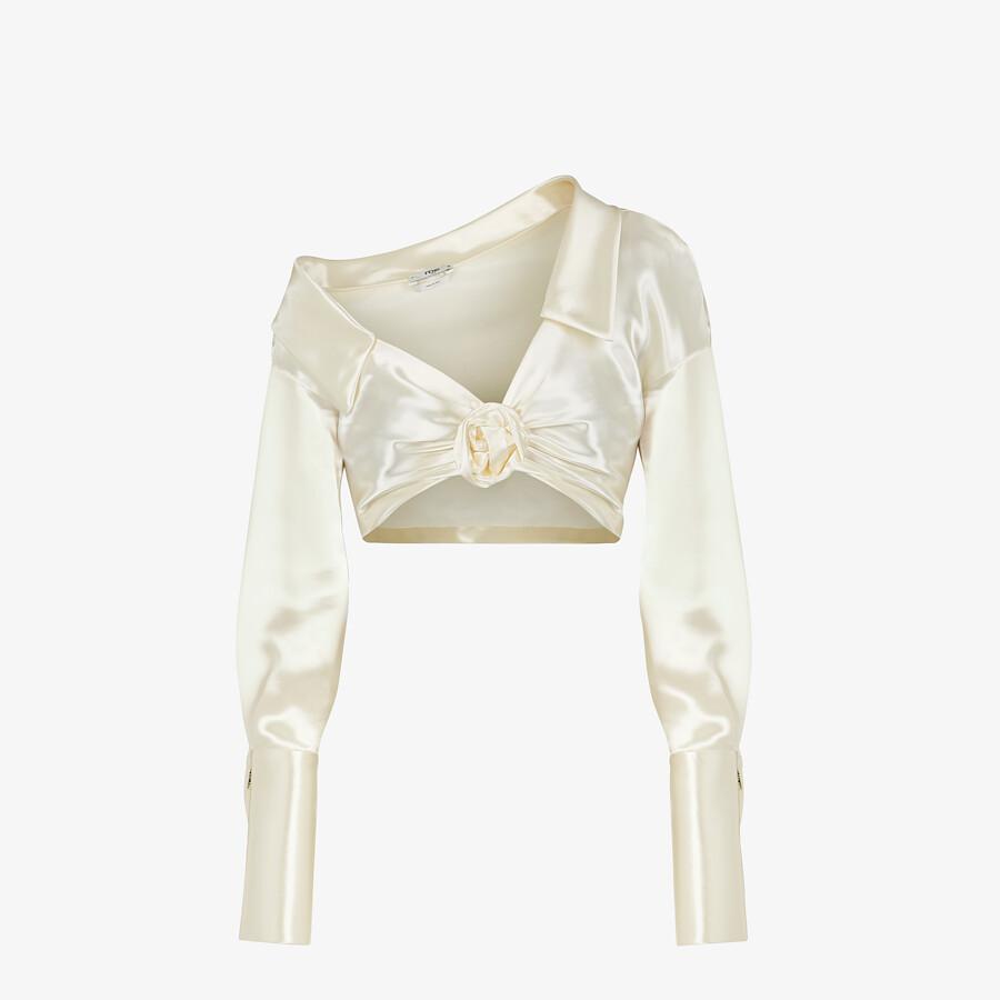 FENDI SHIRT - White satin shirt - view 1 detail