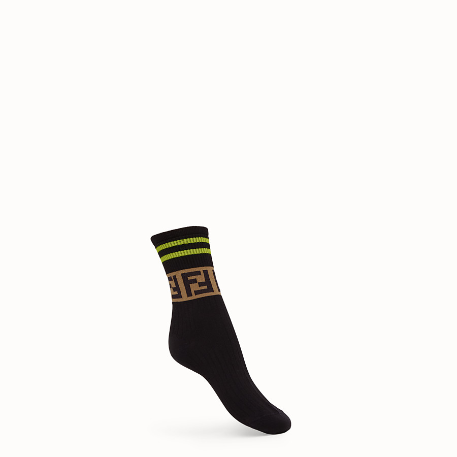FENDI SOCKS - Fendi Roma Amor cotton socks - view 1 detail