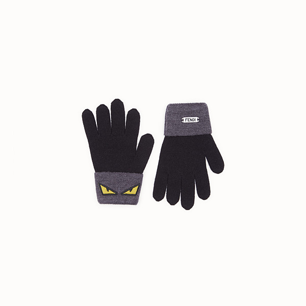 FENDI GLOVES - Black and grey wool gloves - view 1 small thumbnail