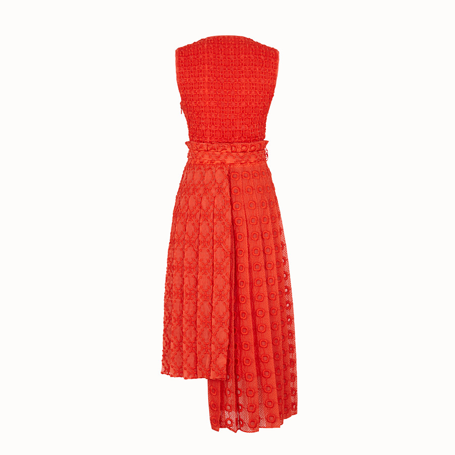 FENDI DRESS - Orange organza dress - view 2 detail
