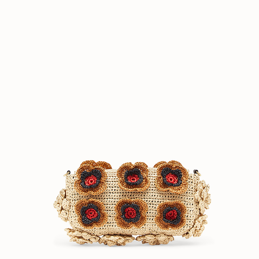 FENDI BAGUETTE - Multicolour raffia bag - view 3 detail