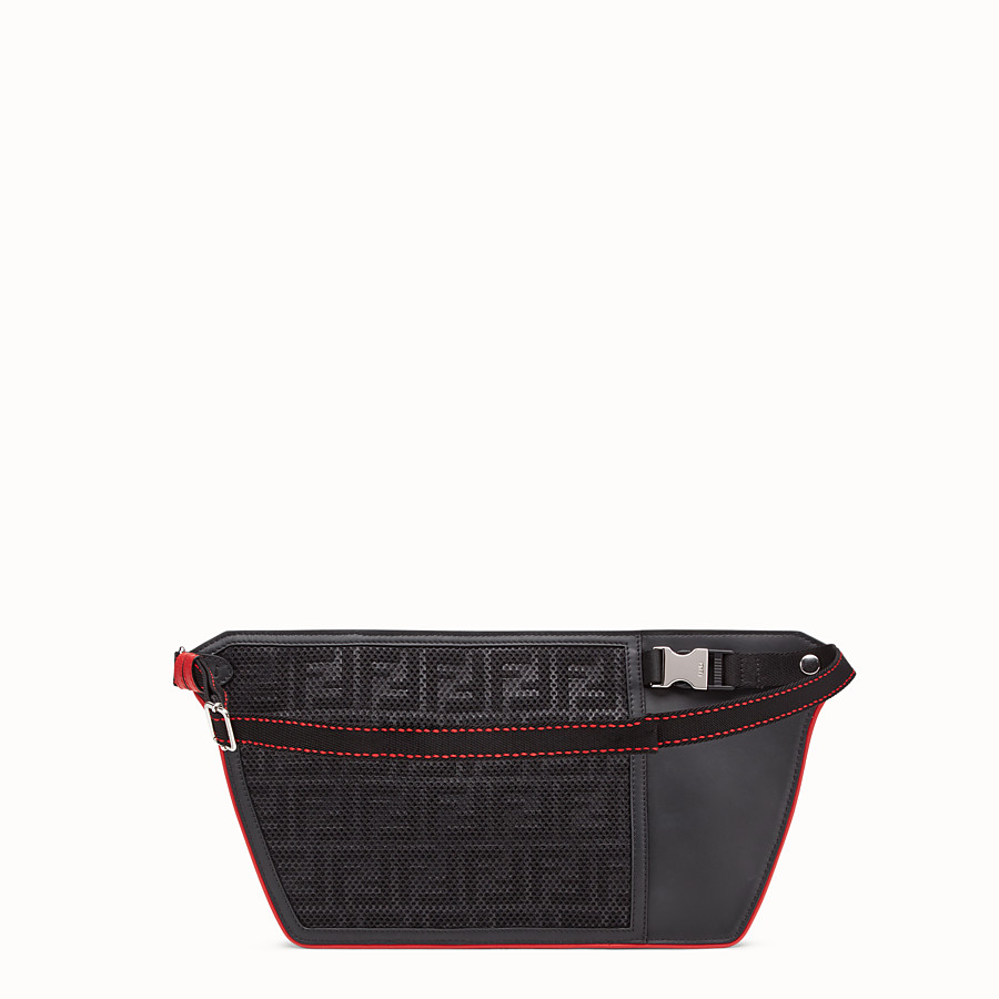 FENDI POUCH - Black fabric cross-body bag - view 3 detail