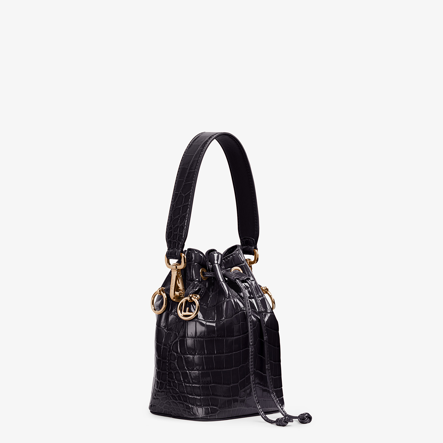 FENDI MON TRESOR - Mini-bag in black crocodile - view 2 detail