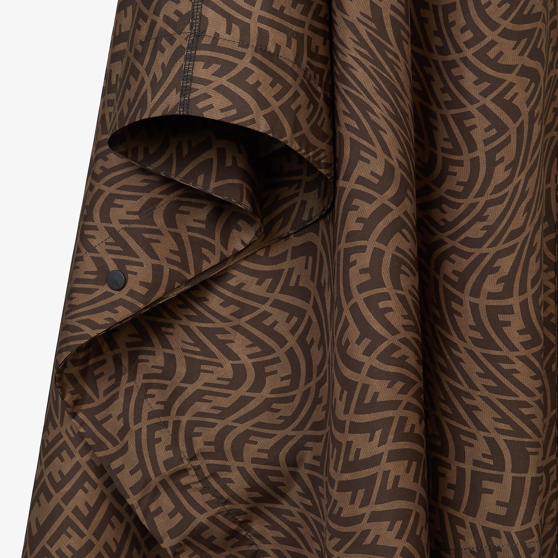 FENDI CLOAK - Brown nylon cape - view 3 detail