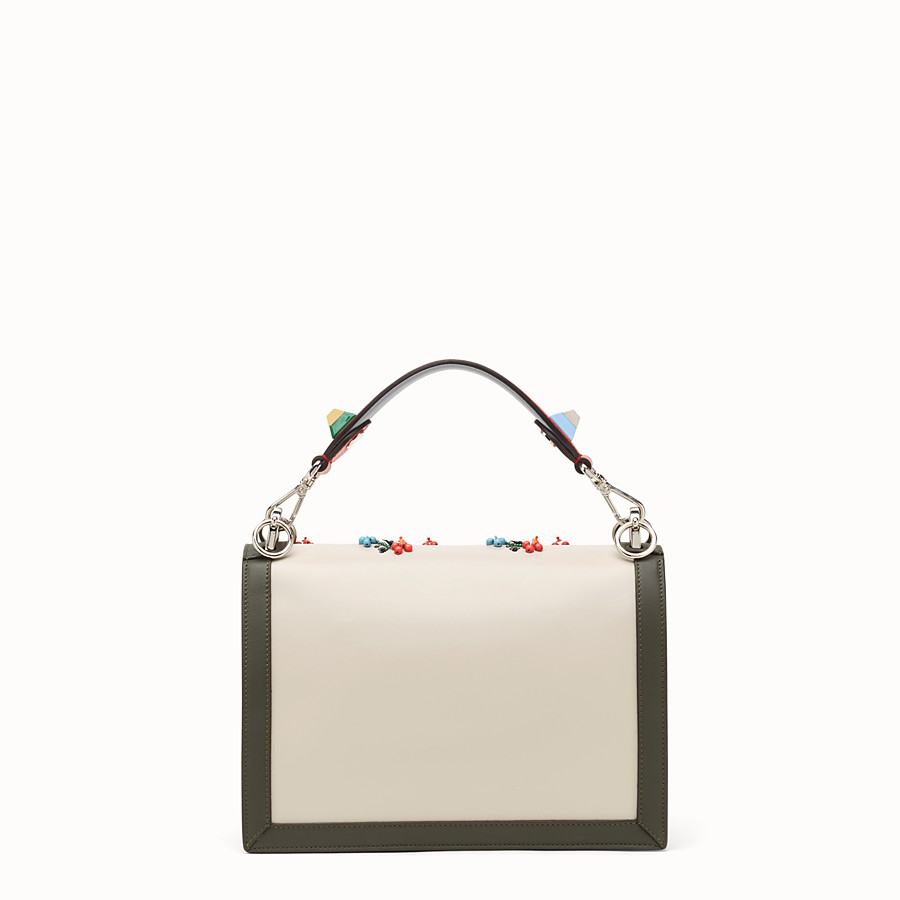 FENDI KAN I - Bag in red leather with embroidery - view 3 detail