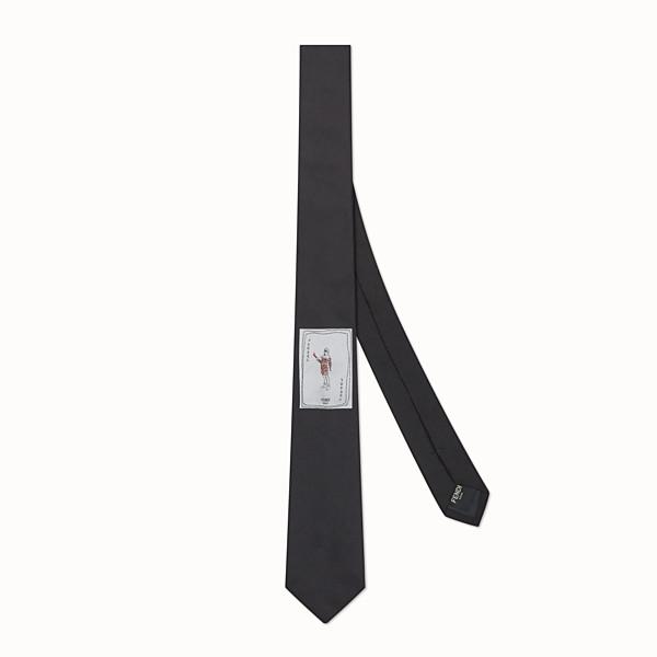 FENDI 領帶 - 黑色真絲領帶 - view 1 小型縮圖