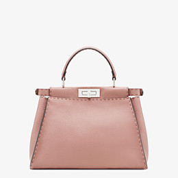 FENDI PEEKABOO ICONIC MEDIUM - Pink leather bag - view 4 thumbnail