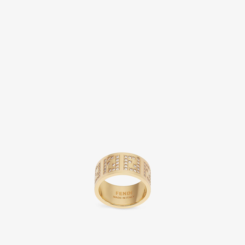 FENDI FF RING - Gold-colour ring - view 1 detail