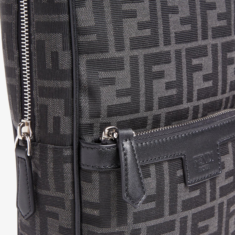 FENDI ONE-SHOULDER TRAVEL BACKPACK - FF jacquard fabric backpack - view 4 detail