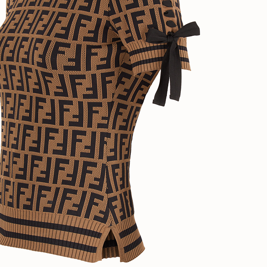 FENDI PULLOVER - Multicolour fabric jumper - view 3 detail