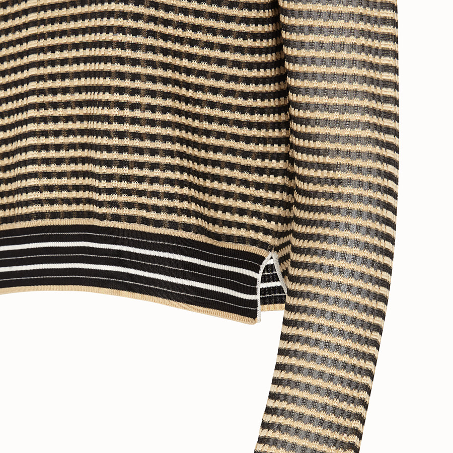 FENDI PULLOVER - Micro-check silk jumper - view 3 detail