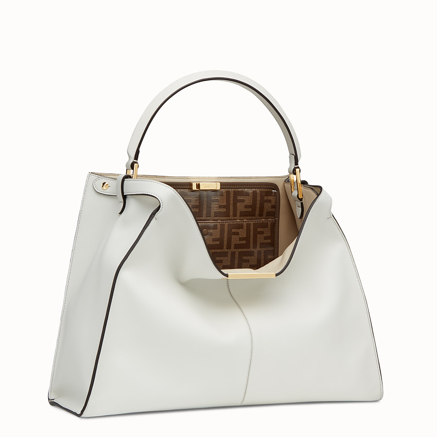 FENDI PEEKABOO X-LITE LARGE - White leather bag - view 4 detail