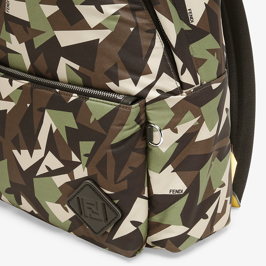FENDI BACKPACK - Green nylon backpack - view 4 detail