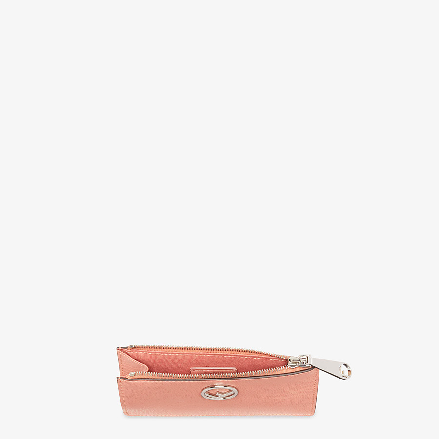 FENDI CARD POUCH - Pink leather pouch - view 4 detail