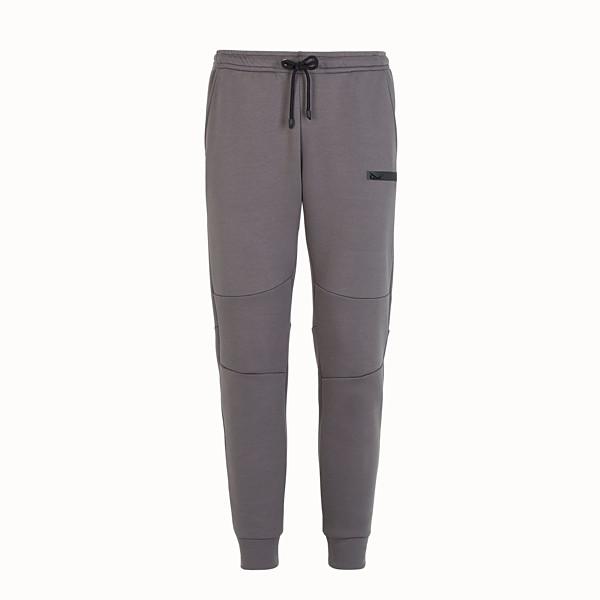 FENDI TROUSERS - Grey cotton trousers - view 1 small thumbnail