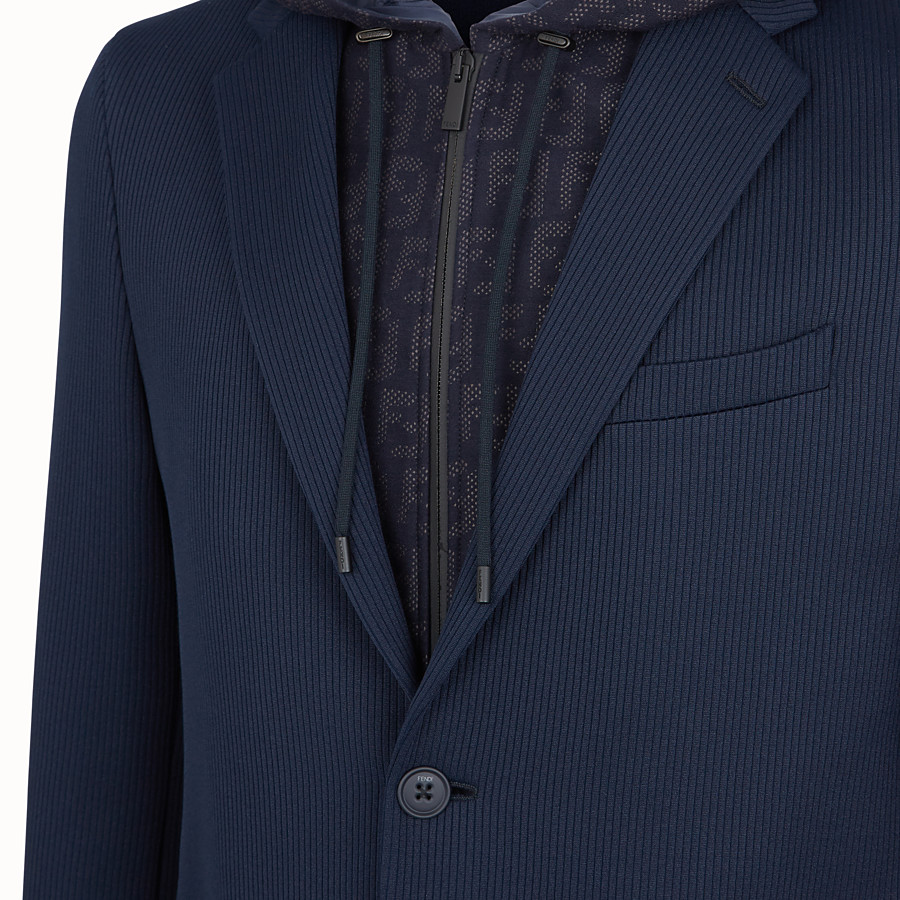 FENDI JACKET - Blue cotton jersey blazer - view 3 detail