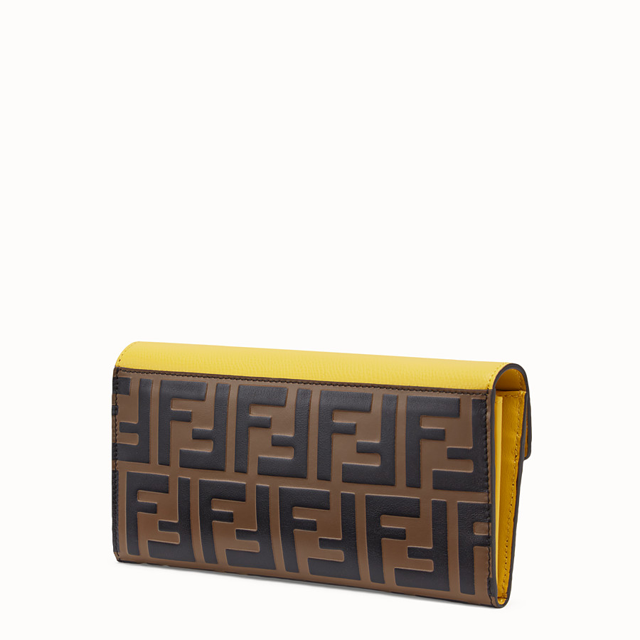 FENDI LANGES PORTEMONNAIE - Portemonnaie aus Leder in Braun - view 2 detail