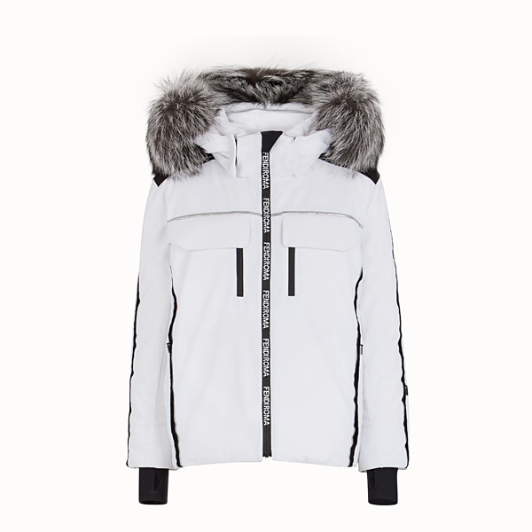 FENDI JACKET - White tech fabric jacket - view 1 small thumbnail