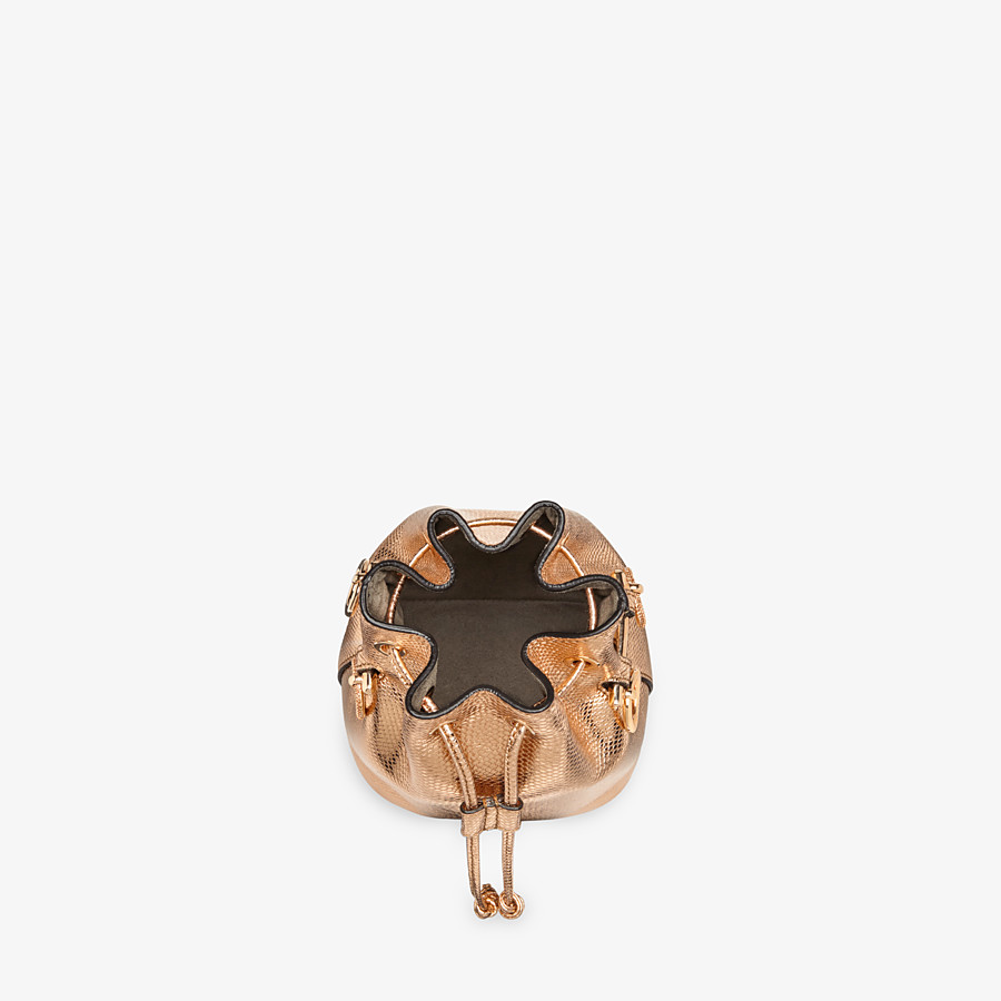 FENDI MON TRESOR - Rose gold karung mini-bag - view 4 detail