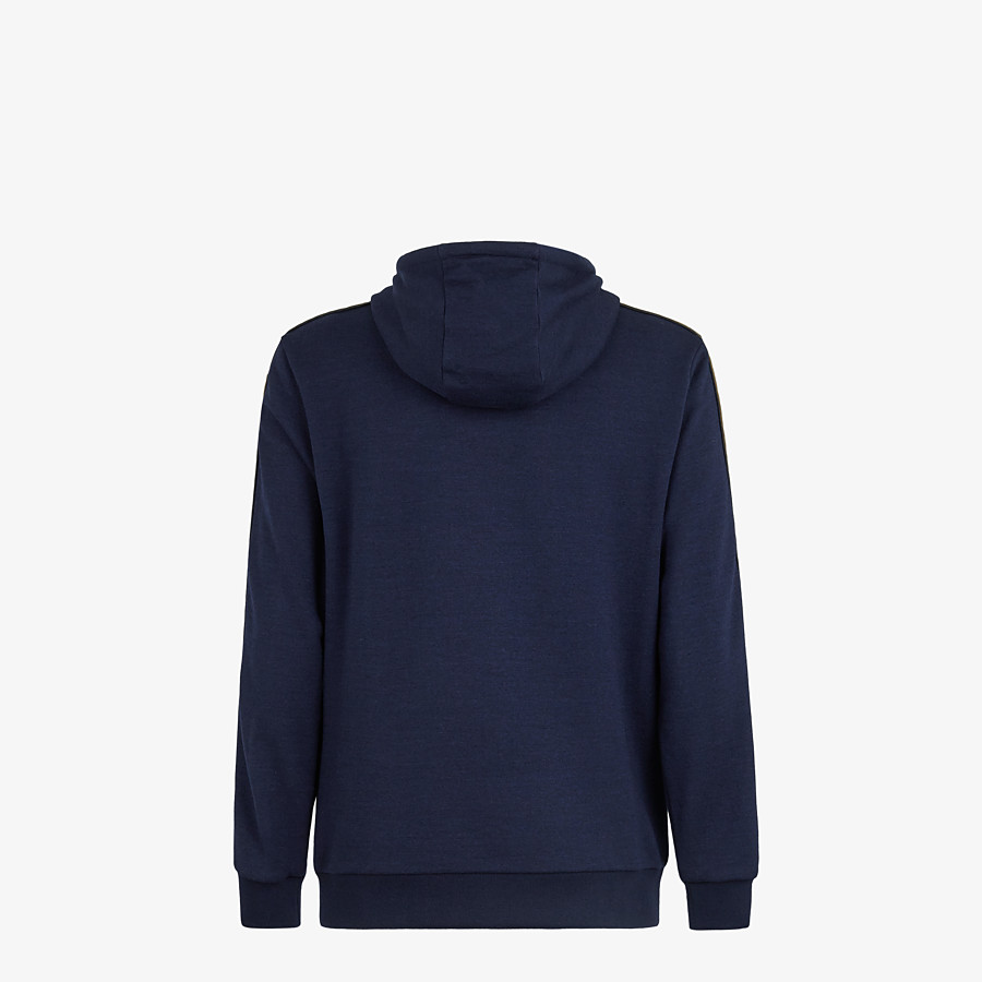 FENDI SWEATSHIRT - Blue wool and cotton sweatshirt - view 2 detail