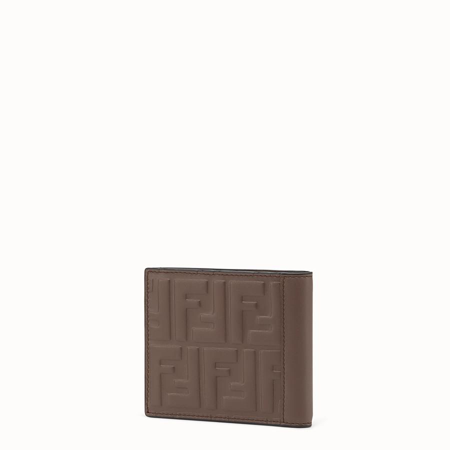 FENDI WALLET - Brown leather bi-fold - view 2 detail