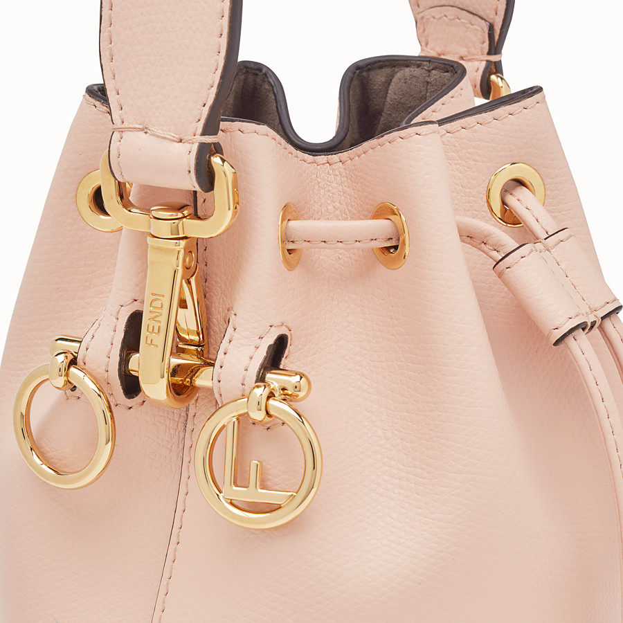 FENDI MON TRESOR - Mini-Tasche aus Leder in Rosa - view 5 detail