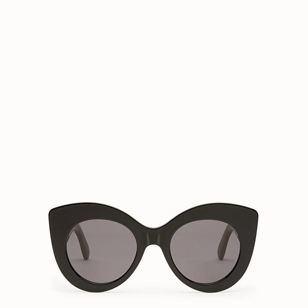 FENDI F IS FENDI - Black and brown sunglasses - view 1 small thumbnail