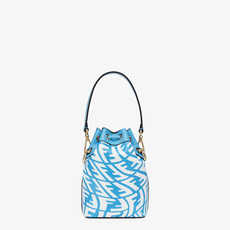 FENDI MON TRESOR - Blue glazed canvas mini-bag - view 4 detail