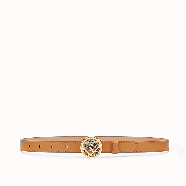 FENDI F IS FENDI BELT - Brown leather belt - view 1 small thumbnail