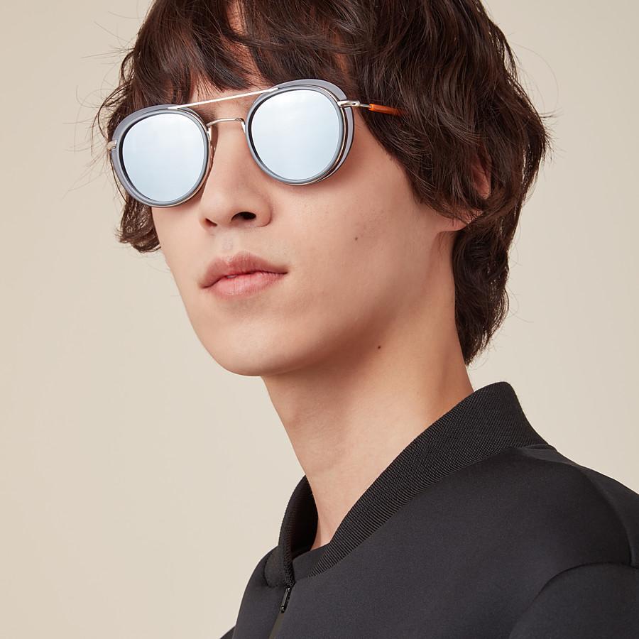 FENDI FENDI GLASS - Grey and palladium sunglasses - view 4 detail