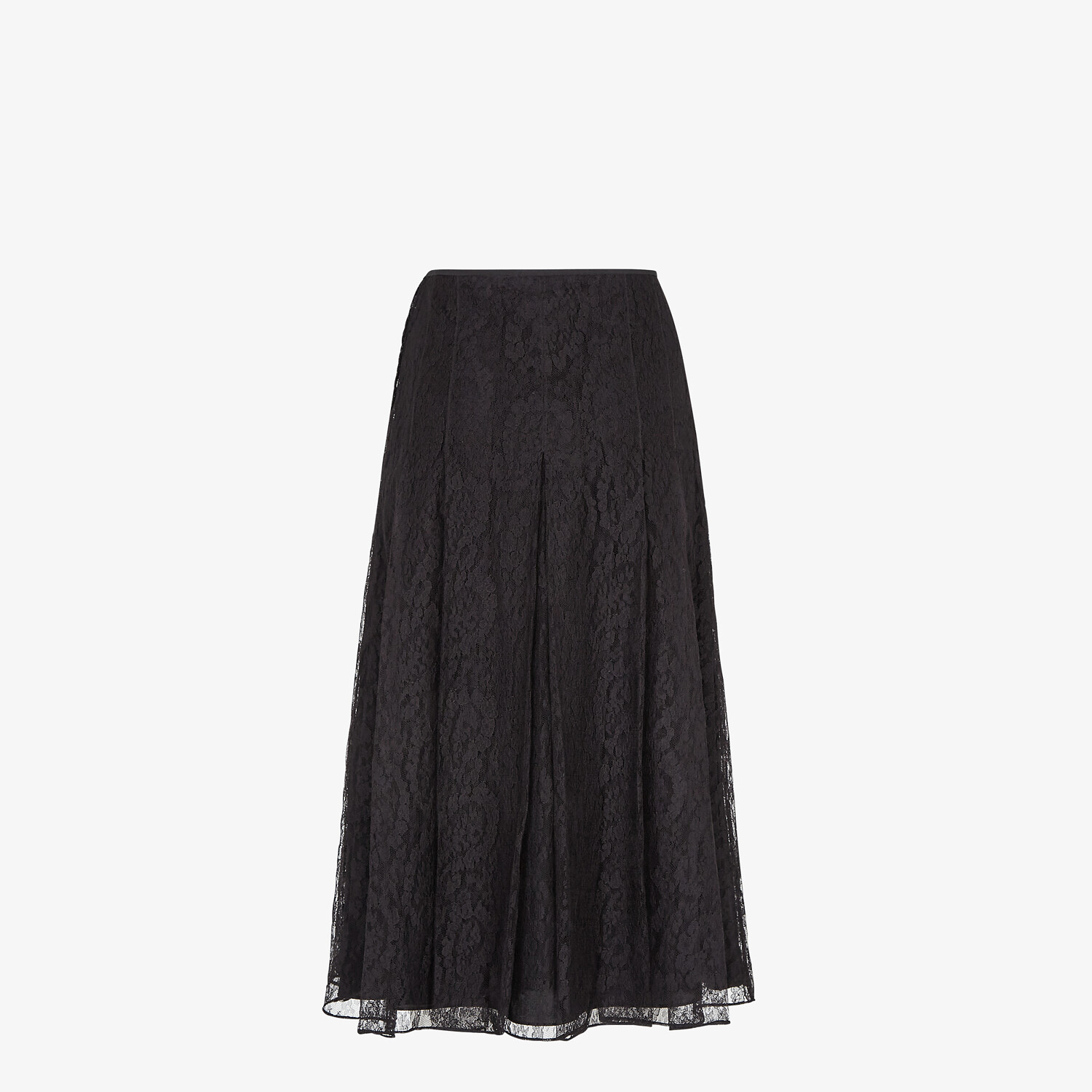 FENDI SKIRT - Black lace skirt - view 2 detail
