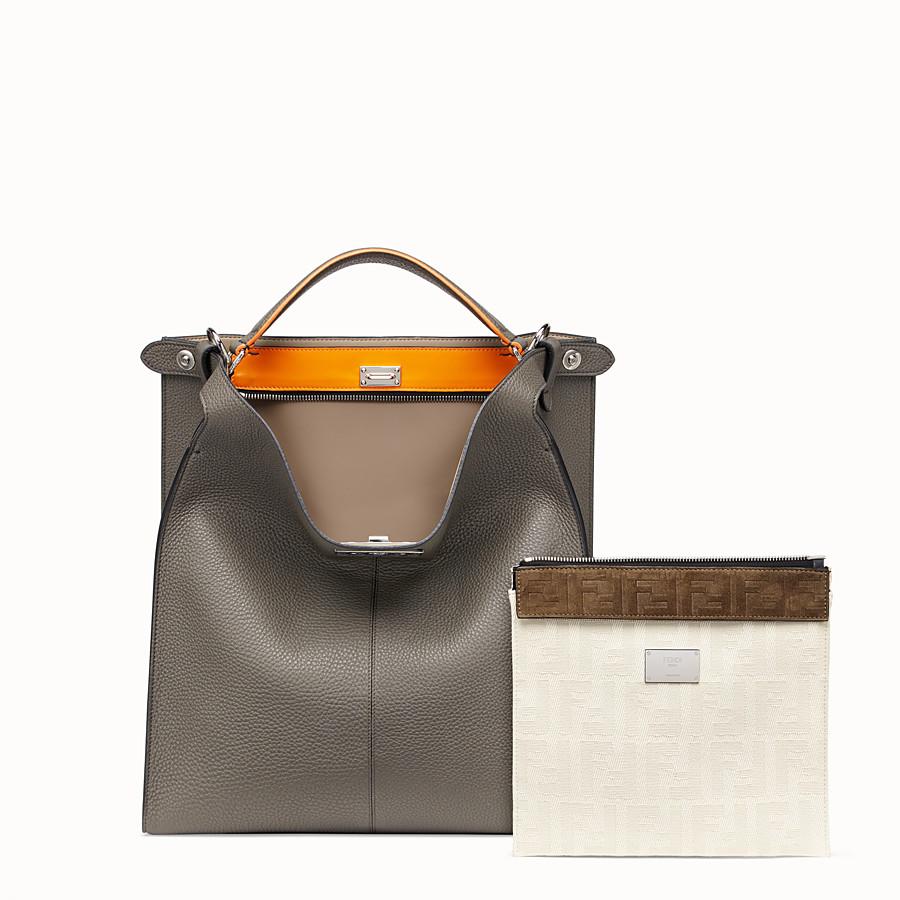 FENDI PEEKABOO X-LITE FIT - Gray leather bag - view 2 detail