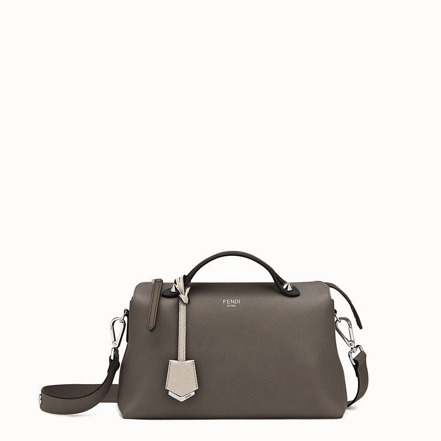 FENDI BY THE WAY REGULAR - Small multicoloured leather Boston bag - view 1 detail