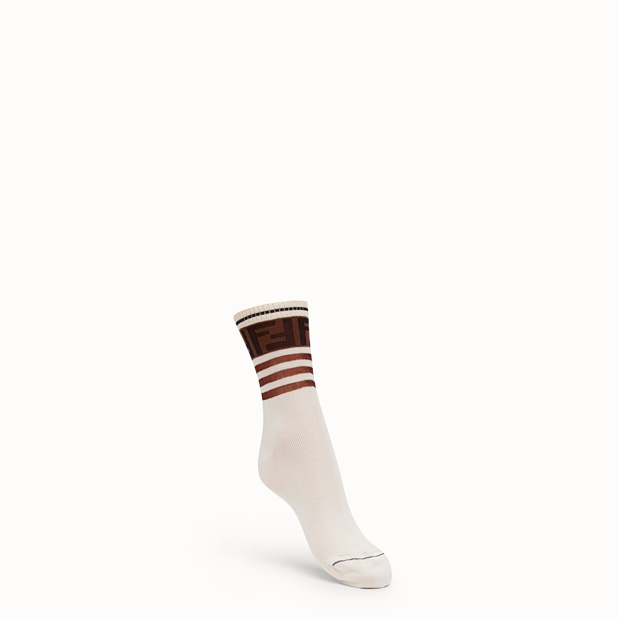 FENDI SOCKS - Multicolor cotton socks - view 1 detail