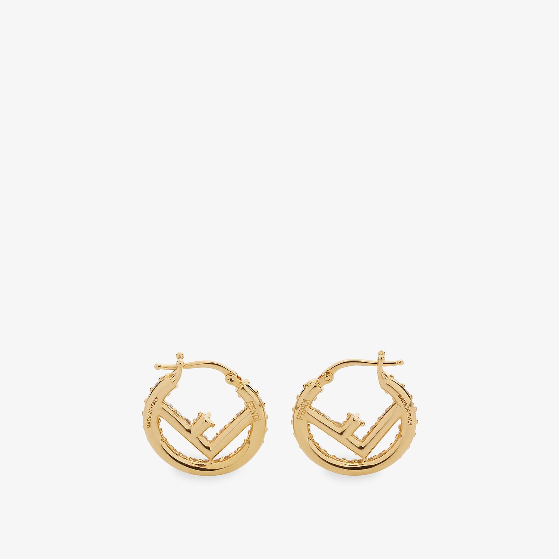 FENDI F IS FENDI EARRINGS - Gold-colored earrings - view 2 detail