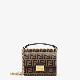 FENDI KAN U SMALL - Brown leather mini-bag - view 1 thumbnail