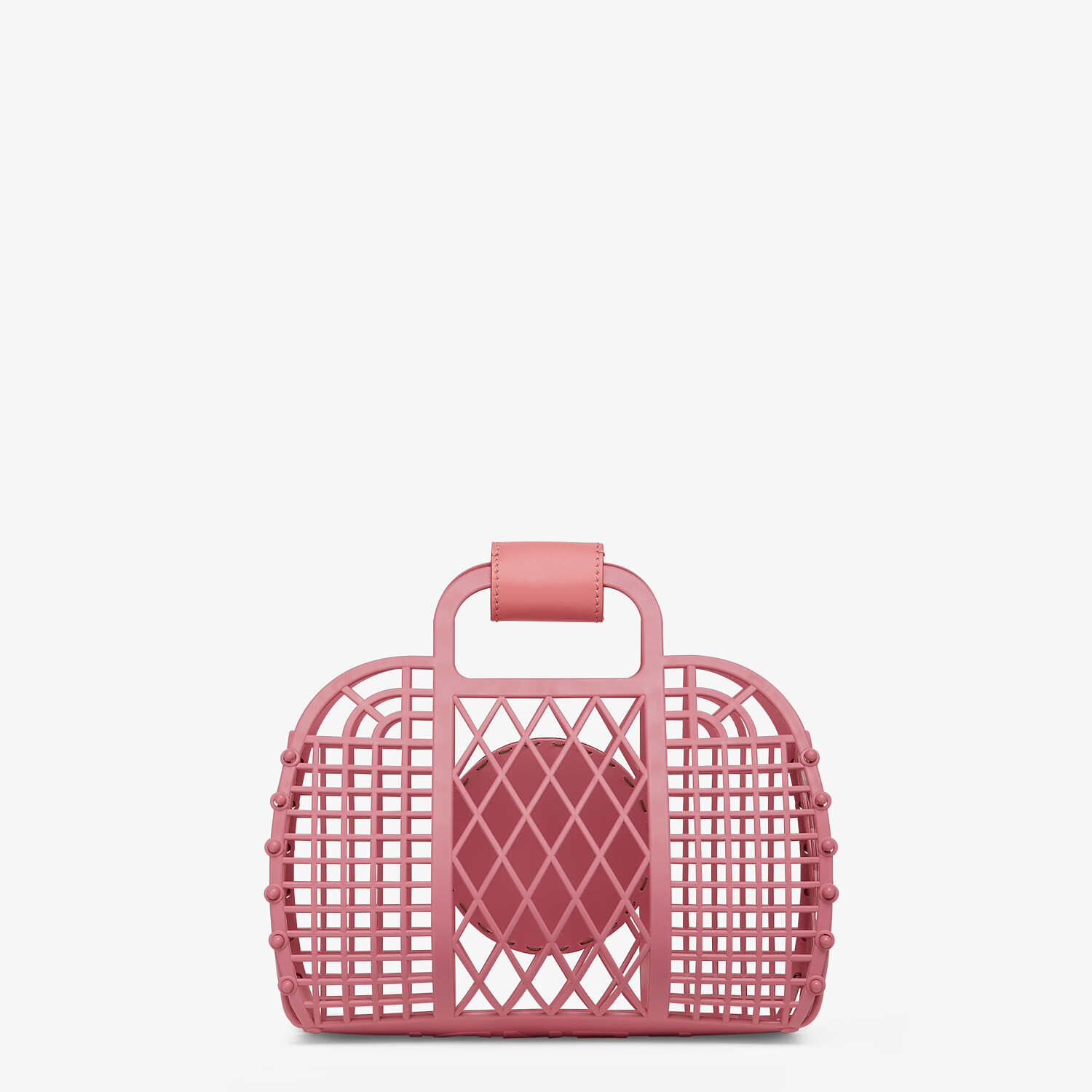 FENDI FENDI BASKET SMALL - Pink recycled plastic mini-bag - view 3 detail