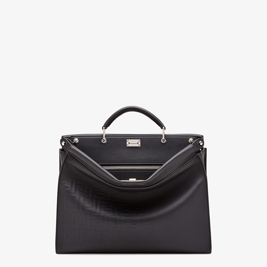 FENDI PEEKABOO ICONIC FIT - Black, calf leather bag - view 1 detail
