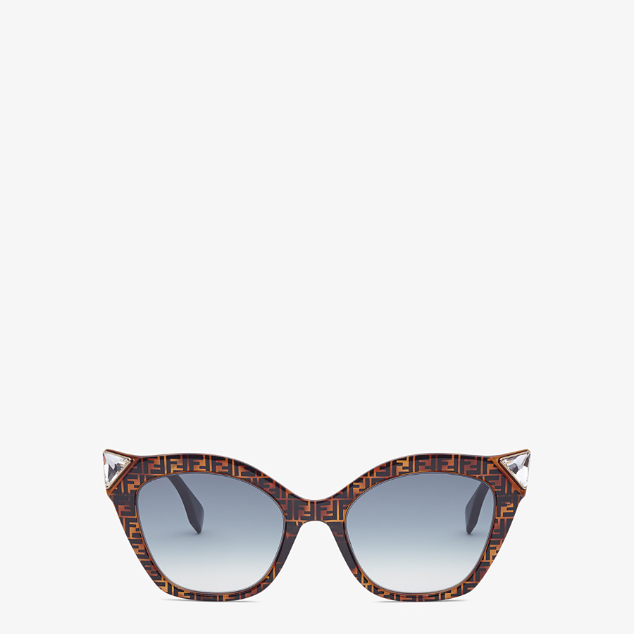 FENDI IRIDIA - Havana FF sunglasses - view 1 detail